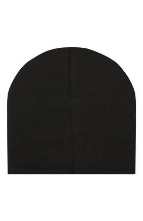 Детского хлопковая шапка CATYA черного цвета, арт. 014085 | Фото 2