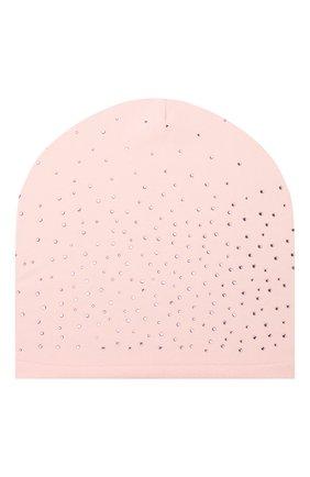 Детского хлопковая шапка CATYA розового цвета, арт. 014109 | Фото 1