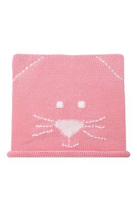 Детского хлопковая шапка CATYA розового цвета, арт. 014136 | Фото 1