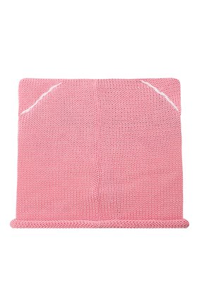 Детского хлопковая шапка CATYA розового цвета, арт. 014136 | Фото 2