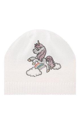 Детского хлопковая шапка CATYA белого цвета, арт. 014160 | Фото 1