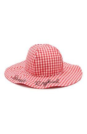 Детская хлопковая шляпа SONIA RYKIEL ENFANT красного цвета, арт. 20S1AC06   Фото 1