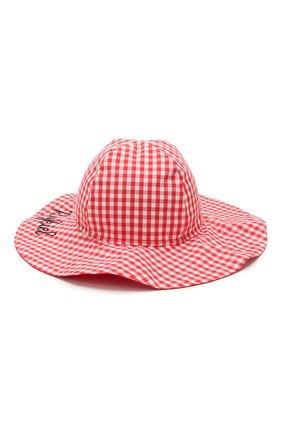 Детская хлопковая шляпа SONIA RYKIEL ENFANT красного цвета, арт. 20S1AC06   Фото 2