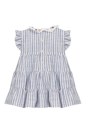 Женский хлопковое платье IL GUFO голубого цвета, арт. P20VM545C1066/3M-9M | Фото 2