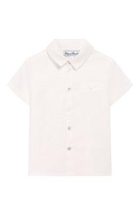 Детский льняная рубашка TARTINE ET CHOCOLAT белого цвета, арт. TQ12121/18M-3A | Фото 1