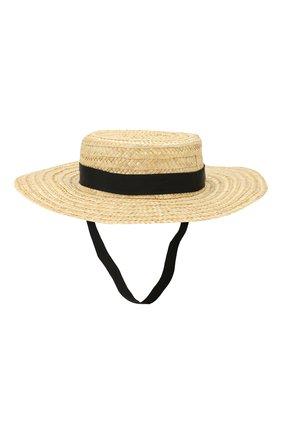 Детская соломеная шляпа SONIA RYKIEL ENFANT бежевого цвета, арт. 20S1AC07 | Фото 2