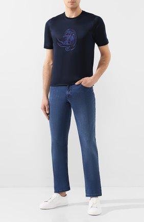 Мужские джинсы ZILLI синего цвета, арт. MCT-00098-DSBL1/S001 | Фото 2