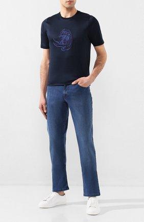 Мужская хлопковая футболка ZILLI темно-синего цвета, арт. MET-NT340-NEWA1/MC02 | Фото 2