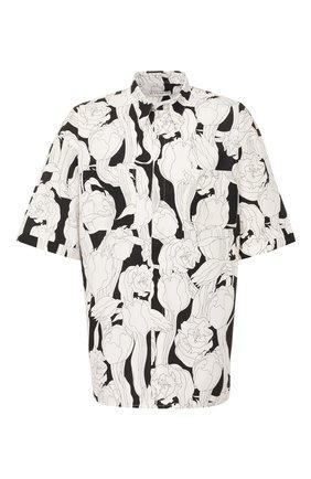 Мужская хлопковая рубашка GIVENCHY черно-белого цвета, арт. BM60JL12TM | Фото 1