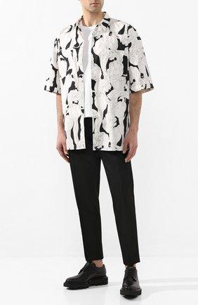 Мужская хлопковая рубашка GIVENCHY черно-белого цвета, арт. BM60JL12TM | Фото 2