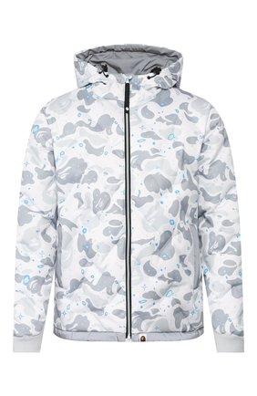 Мужская пуховая куртка BAPE белого цвета, арт. 1G30141003 | Фото 1