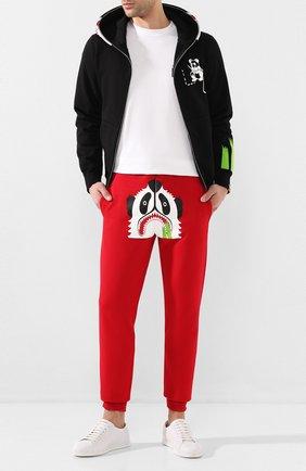 Мужской хлопковые джоггеры BAPE красного цвета, арт. 1G30152002 | Фото 2