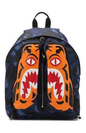 Мужской текстильный рюкзак BAPE синего цвета, арт. 1G30182053 | Фото 1