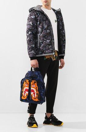 Мужской текстильный рюкзак BAPE синего цвета, арт. 1G30182053 | Фото 2