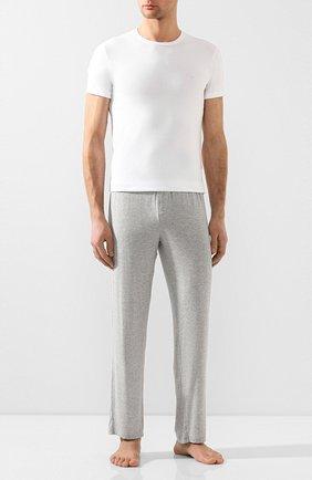Мужские хлопковая футболка EMPORIO ARMANI белого цвета, арт. 110853/0P512 | Фото 2