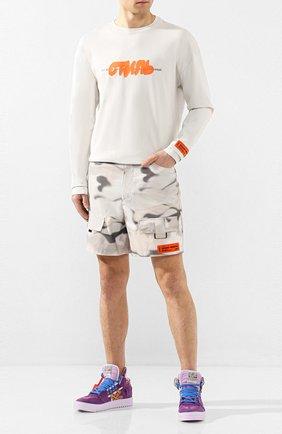 Мужские шорты HERON PRESTON серого цвета, арт. HMCB005S209110168801 | Фото 2
