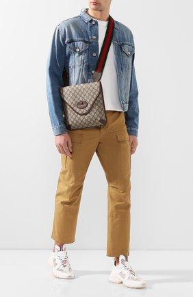 Мужская сумка neo GUCCI бежевого цвета, арт. 598604/9C2VT | Фото 2