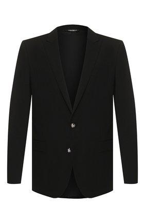 Мужской шерстяной пиджак DOLCE & GABBANA черного цвета, арт. G2LK0T/GEM19   Фото 1