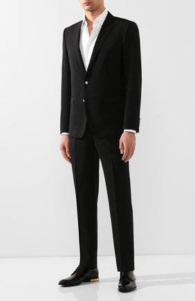 Мужской шерстяной пиджак DOLCE & GABBANA черного цвета, арт. G2LK0T/GEM19   Фото 2