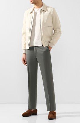Мужской брюки из смеси хлопка и кашемира CORNELIANI зеленого цвета, арт. 854203-0114105/02 | Фото 2