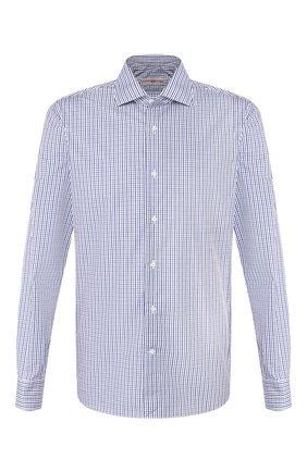 Мужская хлопковая сорочка LUCIANO BARBERA синего цвета, арт. 105469/72701 | Фото 1
