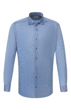 Мужская хлопковая рубашка ZILLI синего цвета, арт. MFT-MERCU-56056/RJ01 | Фото 1