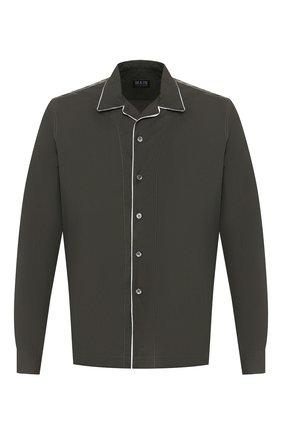 Мужская хлопковая рубашка GIORGIO ARMANI хаки цвета, арт. 0SGCCZ29/TZ567 | Фото 1