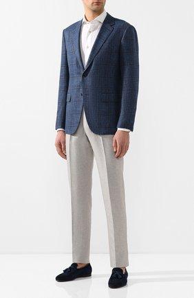 Мужская рубашка из смеси льна и хлопка LUIGI BORRELLI белого цвета, арт. EV08/NAND0/TS9029 | Фото 2