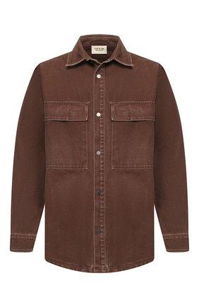 Мужская хлопковая рубашка FEAR OF GOD темно-коричневого цвета, арт. 6H19-6006/WCN | Фото 1