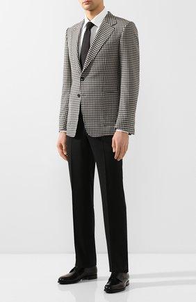 Мужской пиджак из смеси шерсти и шелка TOM FORD черно-белого цвета, арт. 716R07/10SM40 | Фото 2