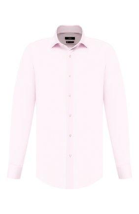 Мужская хлопковая сорочка BOSS розового цвета, арт. 50428347 | Фото 1