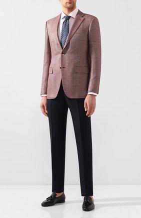 Мужская хлопковая сорочка BOSS розового цвета, арт. 50428347 | Фото 2