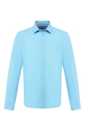 Мужская льняная рубашка VILEBREQUIN голубого цвета, арт. CRSE9U00 | Фото 1
