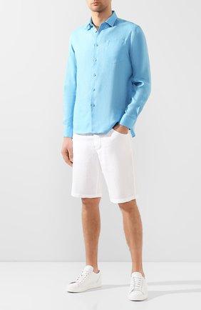 Мужская льняная рубашка VILEBREQUIN голубого цвета, арт. CRSE9U00 | Фото 2