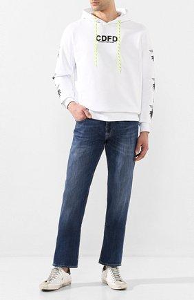 Мужские кожаные кеды superstar GOLDEN GOOSE DELUXE BRAND белого цвета, арт. G36MS590.T75 | Фото 2