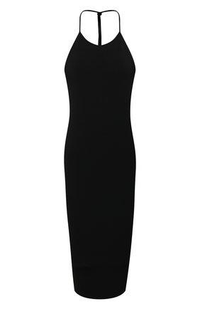 Женское платье из вискозы BOTTEGA VENETA черного цвета, арт. 616993/VKI60 | Фото 1