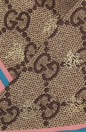 Мужские шелковый шарф-бандо GUCCI розового цвета, арт. 499226/3G001 | Фото 2