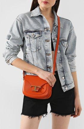 Женская сумка t singola TOD'S оранжевого цвета, арт. XBWTSIC0000R0R | Фото 2