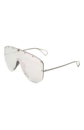 Мужские солнцезащитные очки GUCCI серебряного цвета, арт. 610414/I3330   Фото 1