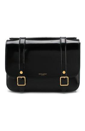 Женская сумка schoolbag mini SAINT LAURENT черного цвета, арт. 605418/1K70J | Фото 1
