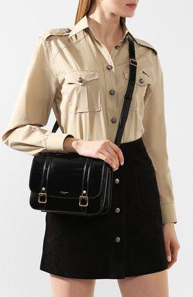 Женская сумка schoolbag mini SAINT LAURENT черного цвета, арт. 605418/1K70J | Фото 2