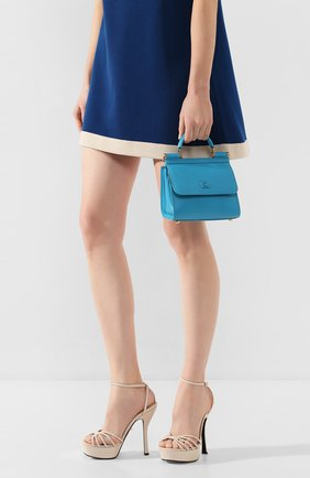 Женская сумка sicily 58 mini  DOLCE & GABBANA голубого цвета, арт. BB6846/AV385 | Фото 2