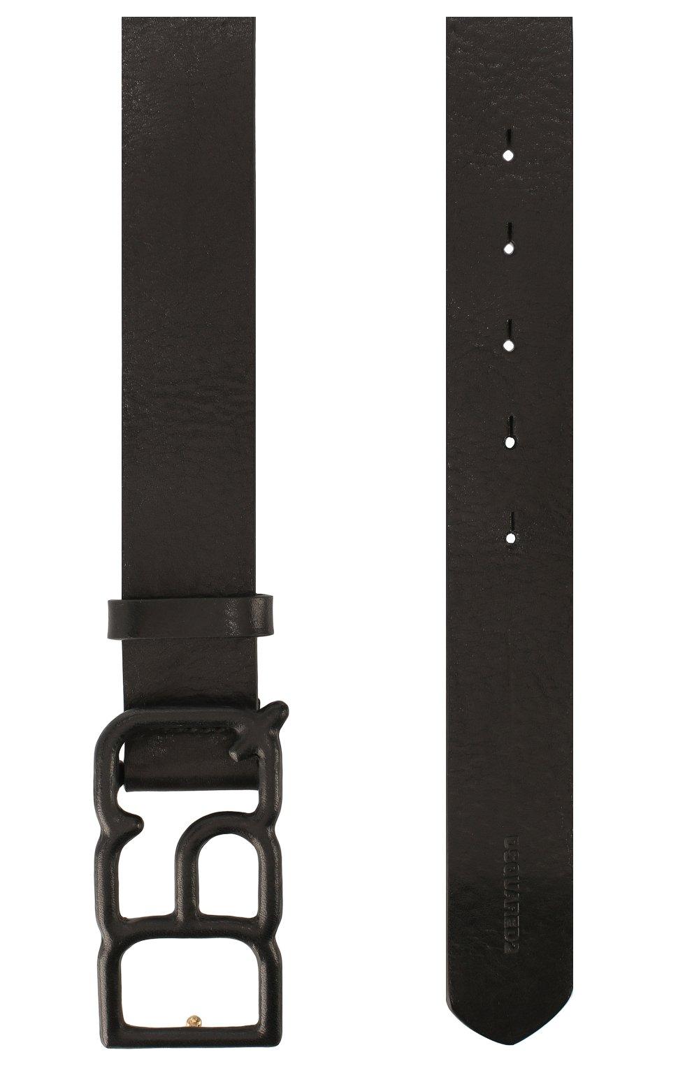Женский кожаный ремень DSQUARED2 черного цвета, арт. BEW0153 12902702 | Фото 2
