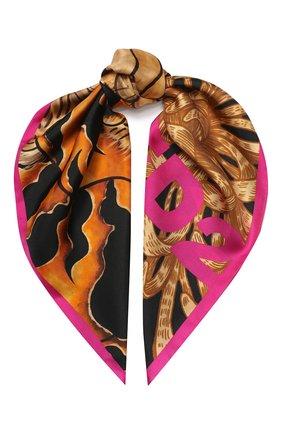 Женский шелковый платок DSQUARED2 черного цвета, арт. FUW0002 01SS0365 | Фото 1