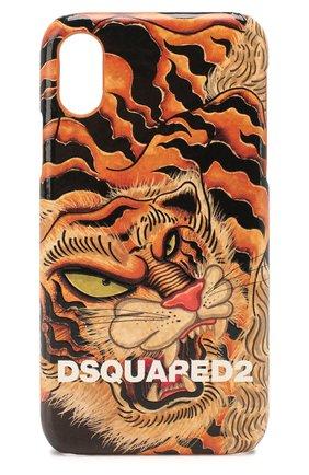 Мужской чехол для iphone x/xs DSQUARED2 оранжевого цвета, арт. ITM0077 39202566 | Фото 1