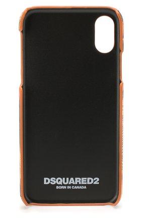 Мужской чехол для iphone x/xs DSQUARED2 оранжевого цвета, арт. ITM0077 39202566 | Фото 2