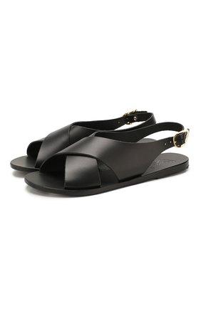 Женские кожаные сандалии maria ANCIENT GREEK SANDALS черного цвета, арт. MARIA/BLACK | Фото 1