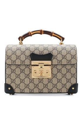 Женская сумка padlock small GUCCI бежевого цвета, арт. 603221/9U8YG | Фото 1