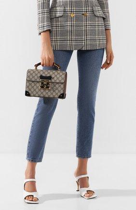Женская сумка padlock small GUCCI бежевого цвета, арт. 603221/9U8YG | Фото 2