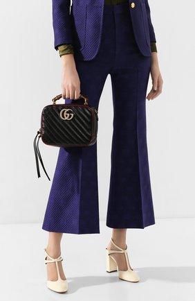 Женская сумка gg marmont small GUCCI черного цвета, арт. 602270/00LFX | Фото 2